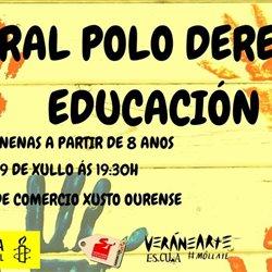 Mural polo Dereito á Educación