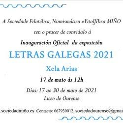 Exposición Filatélica Letras Galegas 2021